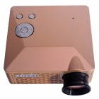 Geekwire LP-6B Portable FHD 1080P LED VGA Projector w/ HDMI, VAG, USB 2.0, AV, SD - Golden (US plug)