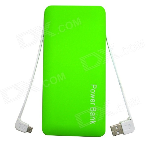 ODEM Portable Universal 12000mAh Li-polymer Battery Dual USB Power Bank - Green universal 20000mah portable li polymer battery dual usb power bank green silver