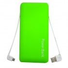 "ODEM Portable Universal ""12000mAh"" Li-polymer Battery Dual USB Power Bank - Green"
