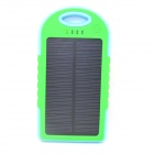 5000mAh Dustproof Shockproof Waterproof Li-polymer Battery Solar Charger Power Bank - Blue + Green