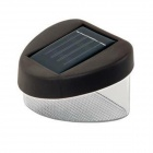 MLSLED 0.12W 10lm 6500K 2-SMD 3528 LED Cool White Waterproof Solar Powered Garden Fence Lamp - Brown