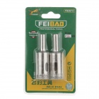 FEI BAO 16mm Glass Drill Bits - Silver (Pair)