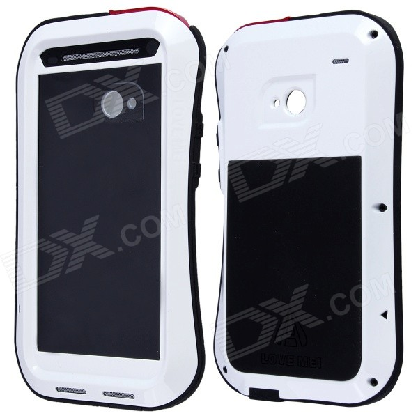 Lovemei AL01 Small Waist Upgrade Version Aviation Aluminum Alloy Case for HTC NEW ONE M7 - White