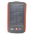 ODEM Solar Powered 6000mAh External Battery Charger Power Source Bank - Red + Black