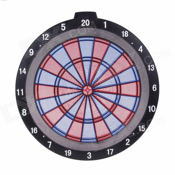 Winmax WMG08054 Large 18 Plastic Dartboard w/ 3 Darts / 6 Tips - Red + Blue winmax best quality top design blade wire system professional bristle dartboard for match play