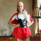 Halloween Universal Maid Role Play Costume Suit - Red + White + Black