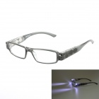 SENLAN Plastic Frame Resin Lens +1.00D Presbyopia Glasses Reading Glasses - Translucent Black