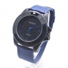 W-3 Men's Sports Outdoor Cloth Belt Analog Quartz Wrist Watch - Deep Blue (1 x LR626)