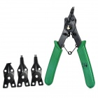 Harkcaput YT-261001 4-in-1 High Carbon Steel Pilars w/ Replacement Heads - Green + Black