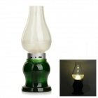 YouOKLight OK-001 0.55W 40lm 3000K 3-LED Warm White USB Dimmable Night Lamp - Green (DC 5V)