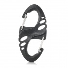 Edcgear Durable Plastic Steel S Shaped Clip Carabiner - Black