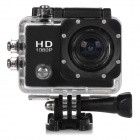 "HD 1080P 2.0"" Screen Waterproof Sport CCD 12MP Wide Angle Camera - Black"