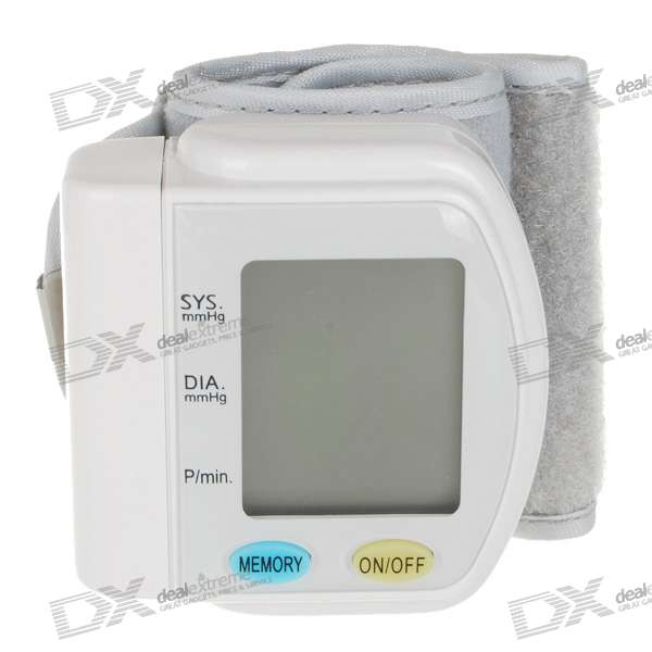 "1.7"" LCD Wrist Style Digital Blood Pressure Monitor (2*AAA)"