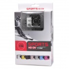 "HD 1080P 2.0"" Screen Waterproof Sport CCD 12MP Wide Angle Camera - White + Black"