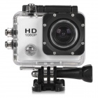 "HD 1080P 2.0 ""Screen wasserdichte Sport-CCD 12MP Weitwinkel-Kamera - White + Black"