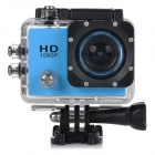 "HD 1080P 2.0"" Screen Waterproof Sports CCD 12MP Wide-Angle DV Video Camera Camcorder - Blue + Black"