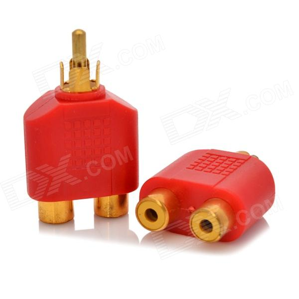 1-to-2 RCA Male to Female AV Adapter Connector - Red + Golden (2 PCS) fqpf9n50 to 220f
