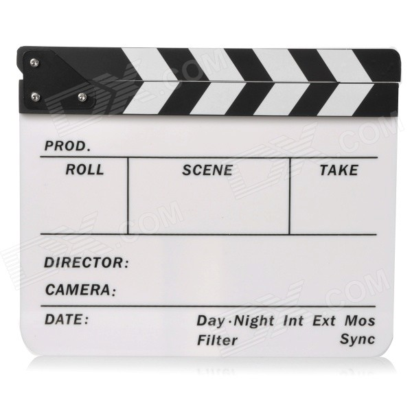 Universal Acrylic Studio Movie Film Director's Dry Erase Board Clapboard - Black + White harman kardon onyx studio 2 black