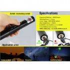 Adjustable 5mW 532nm Green Light Aluminum Alloy Laser Pointer Pen - Black (1 x 18650)