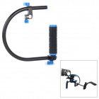 C Shape Handheld Stabilizer / Handle Mount Grip for DSLR / DV Camera - Black + Blue
