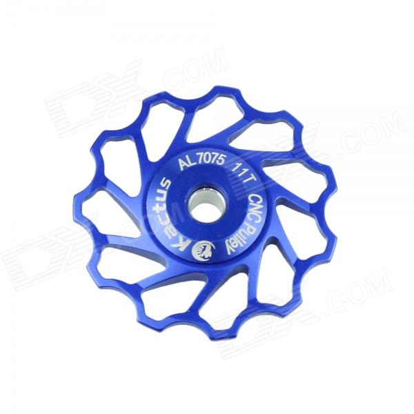 KACTUS 011 Bike Bicycle 11T Aluminum Alloy Wheels Rear Derailleur Pulley - Blue d09 aluminum alloy bicycle cnc front fork washer blue white 28 6mm