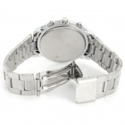Zhongyi W803 Analog Quartz Wrist Watch for Men - Silver + White