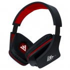 VYKON MQ99 3.5mm Foldable Stereo Headband Heaphone w/ Mic. for APPLE Series - Black + Red
