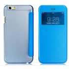 "Protective Flip-Open PU Cover + PC Back Case w/ Display Window for 4.7"" IPHONE 6 - Blue"