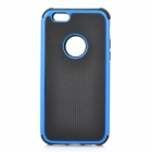 2-In-1 Ball Grain Silicone + Plastic Back Case for 4.7'' IPHONE 6 - Black + Blue