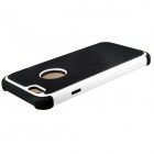 2-In-1 Ball Grain Silicone + Plastic Back Case for 4.7'' IPHONE 6 - Black + White