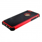 2-In-1 Ball Grain Silicone + Plastic Back Case for 4.7'' IPHONE 6 - Black + Red