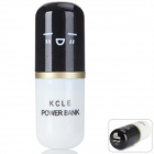 Cute Capsule Shape 3000mAh External Li-ion Battery Power Bank for IPHONE 5 / 5S / 5C - Black + White