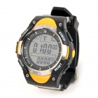 FR718A Outdoor Competitive Fishing Barometer Digital Watch w/ Backlight - Yellow (1 x CR2032)