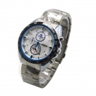 MIKE 8214 Men's Business Casual Analog Quartz Wrist Watch - Silver + White