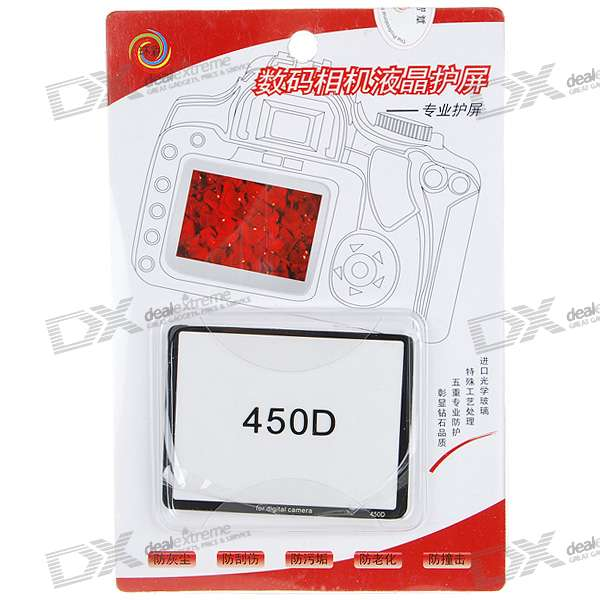 Professional Optical Glass LCD Screen Protector for Canon 450D