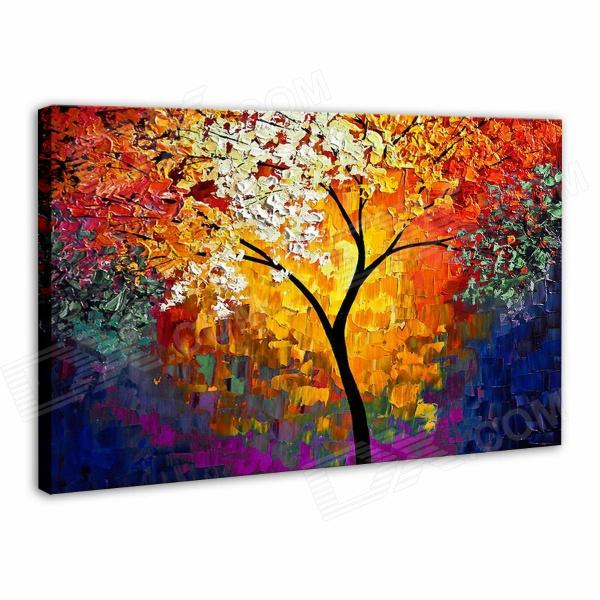 Iarts AHA072962 Hand-painted Thick Texture of Knife Painting Trees Oil Painting - Red (60 x 40cm) the trees trees the garden of jane delawney lp