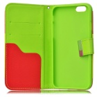Colorful Wallet Style PU Leather Cover Case for IPHONE 6 4.7 Inch