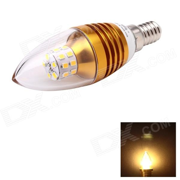JoYda LJ5 E14 5W 520lm 3000K Warm White Light 25-SMD 3014 LED Cusp Candle Lamp (AC 85~265V) e14 5w 110lm 3000k 8 smd 5630 led warm white light lamp bulb ac 85 265v