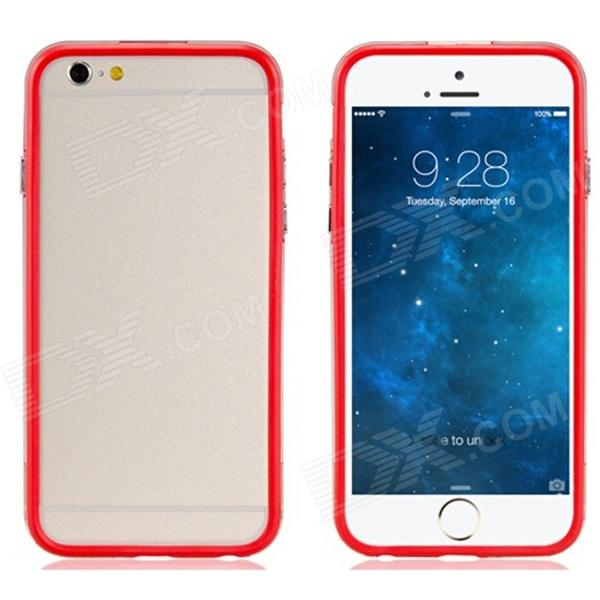 Pandaoo Protective Plastic Bumper Frame Case for IPHONE 6 4.7 - Red protective plastic bumper frame case for iphone 5c black red