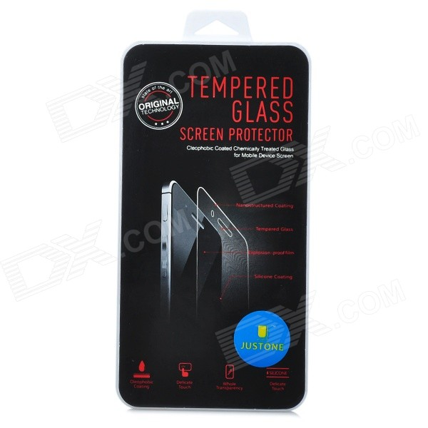 JUSTONE Tempered Glass Front + Back Protector Set for IPHONE 4 / 4S - Transparent justone explosion proof tempered glass screen protector guard film for iphone 4 4s transparent