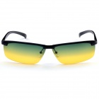 Aolong A106 Men's Stylish Resin Lens UV400 Protection Polarized Sunglasses - Black + Yellow