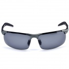 Aolong 8177 Men's Stylish Aluminum Alloy Frame Resin Lens UV400 Polarized Sunglasses - Black + Grey