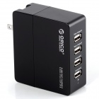 ORICO DCX-4U 4-Port USB 3.0 480Mbps Wall Charger for IPHONE / Samsung + More - Black