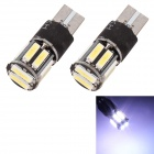 MZ T10 5W 400LM 6500K 10-SMD 7020 LED branco piscando Car Clearance Lamp / Side Light (12V / 2PCS)