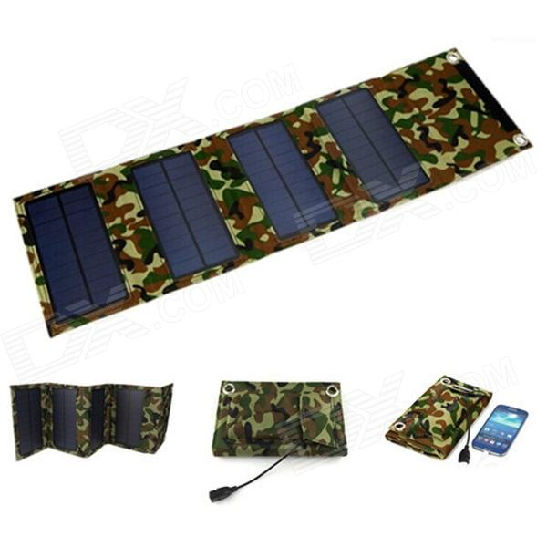 SP8W Portable Folding 8W Monocrystalline Solar Charging Panel Bag - Camouflage