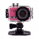 "PANNOVO M300 5.0MP HD Sports Camera w/ 0.4"" LCD, Wi-Fi, TF, USB - Pink"