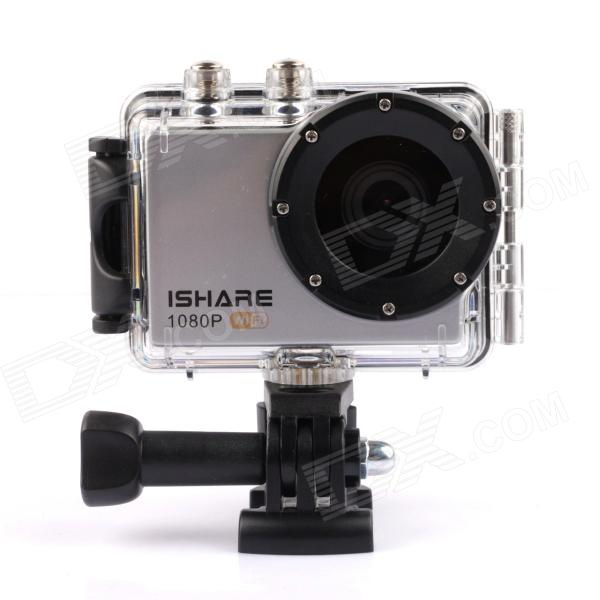 ISHARE DV-008 1.5 12.0 MP Wi-Fi CMOS 1080P Full HD Outdoor Sports Digital Video Camera ishare s200 2 0 lcd cmos 1080p full hd waterproof sport camera for bike surfing outdoor sports