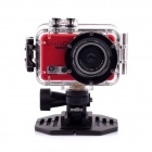 "PANNOVO M300 5.0MP HD Sports Camera w/ 0.4"" LCD, Wi-Fi, TF, USB - Red"
