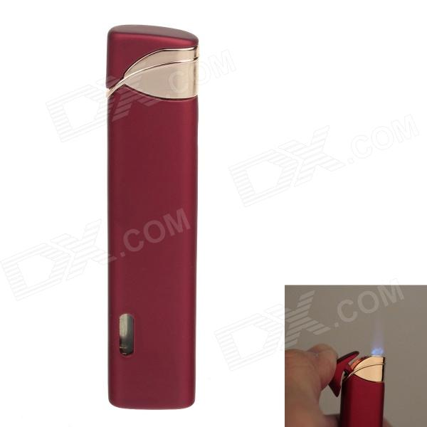 Fashionable Super Fire Windproof Butane Flame Lighter - Red