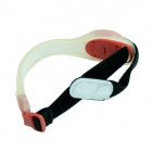 Outdoor Cycling Reflective Safety 2-Mode LED Red Light Armband - Black + White (2 x CR2032)